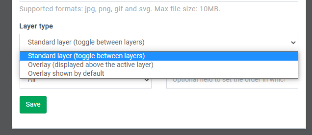 map layer type option