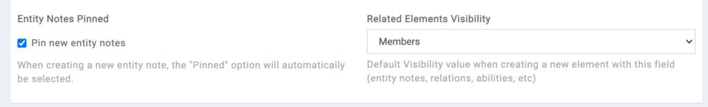 default visibility