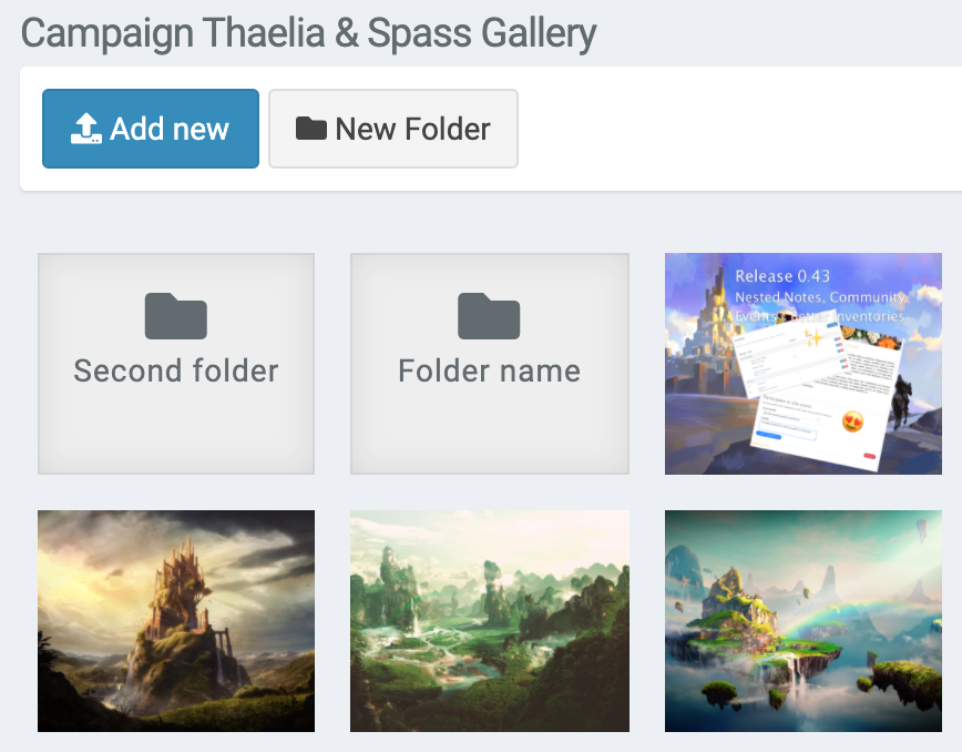 campaign gallery folders