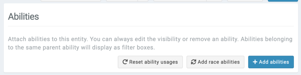 add race abilities button - bulk attribute