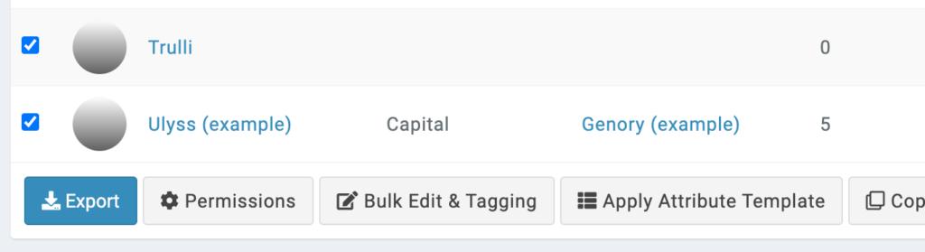 bulk apply attribute templates button