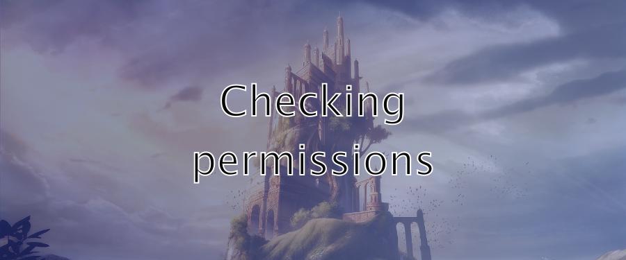 kanka checking permissions