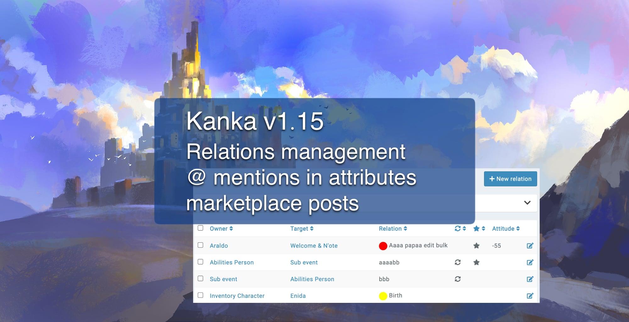 Kanka 1.15 - Relations management