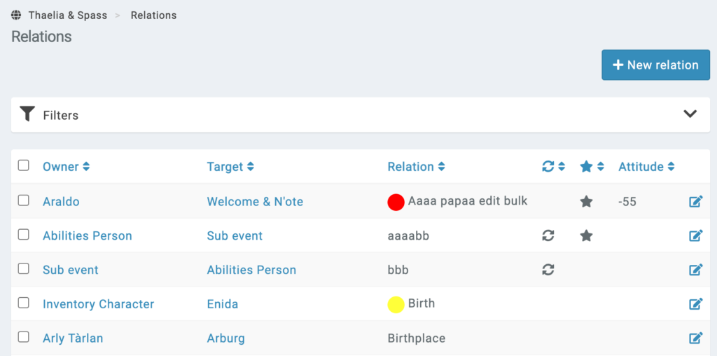 campaign relations management interface