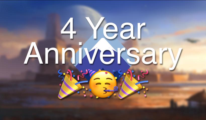 4 years anniversary